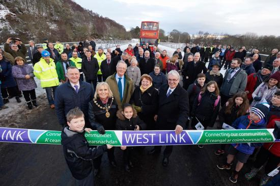 Photograph of West Link Road, Inverness Opened