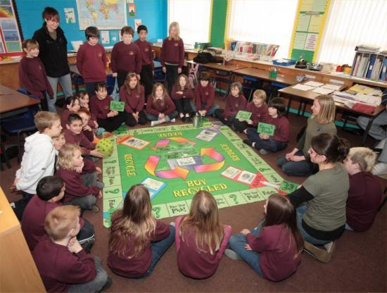 Photograph of Canisbay Pupils Promote The Recycling Message