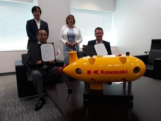 Photograph of Japanese Multinational Signs Scottish Deal