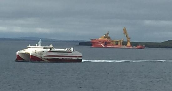 Photograph of Heavy Offshore Construction Vessel Viking Neptun In Pentlnd Firth