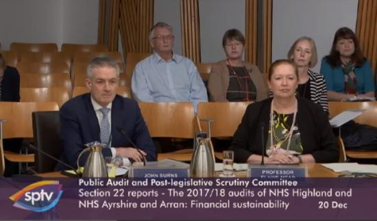 Photograph of Holyrood Committee To Question NHS Bosses Live On Audit Scotland Reports