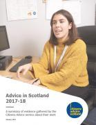 Thumbnail for article : Advice in Scotland 2017-18  - Increasing Demand