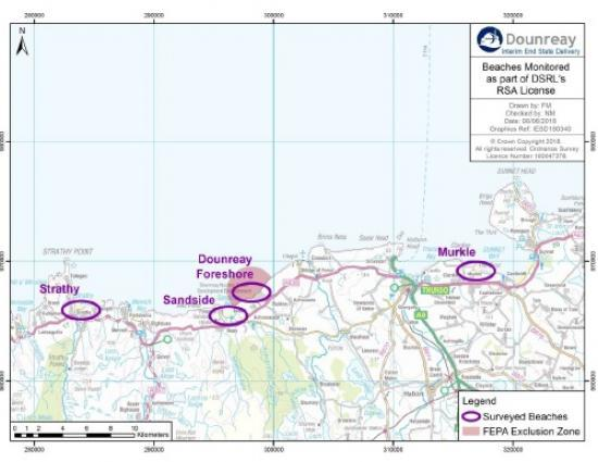 Photograph of Latest Updates on Radioactive Particles On Beaches From Dounreay