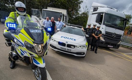 Photograph of Police officers gain licences to drive unmarked trucks for motorway patrol