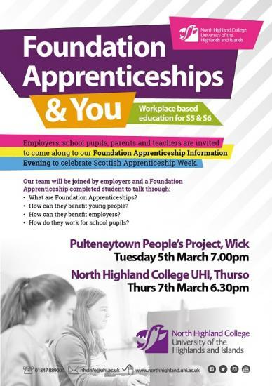 Photograph of Scottish Apprenticeship Events in Thurso and Wick
