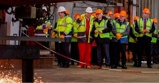 Photograph of DF Barnes Celebrates Getting Bifab Back To Work