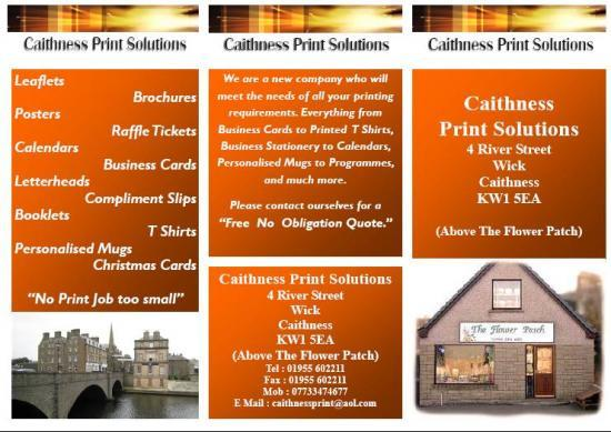 Photograph of Caithness Print Solutions Can Get Your Business Noticed
