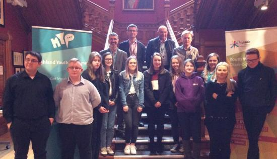 Photograph of Apprentice Day for Highland Youth Parliament Members