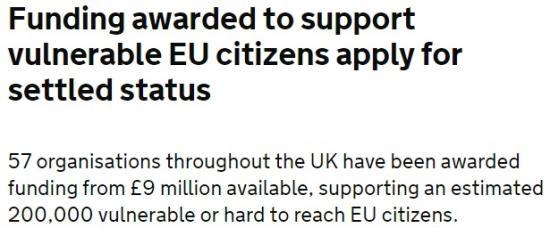 Photograph of Funding Awarded To Support Vulnerable Eu Citizens Apply For Settled Status