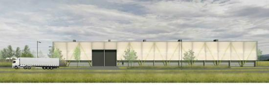 Photograph of Planning permission granted for Materials Recovery Facility at Longman, Inverness