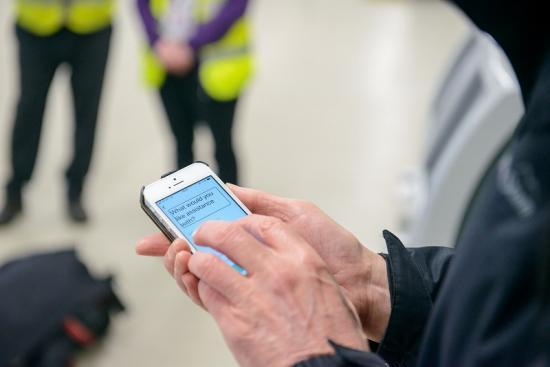 Photograph of Warm 'Welcome' on NorthLink Ferries with accessibility app