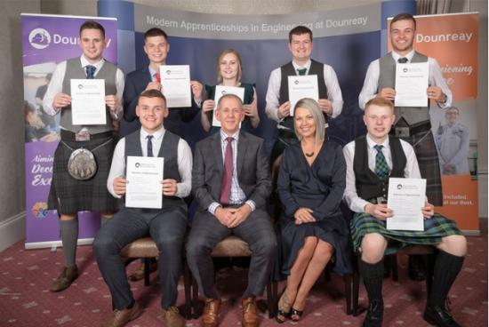 Photograph of Dounreay Apprentices Celebrate Completion Of Training Scheme