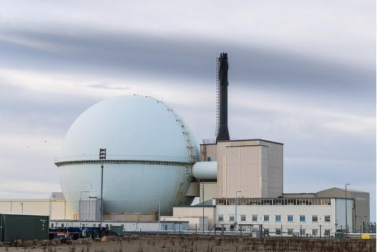 Photograph of Half the fuel gone from iconic Dounreay reactor