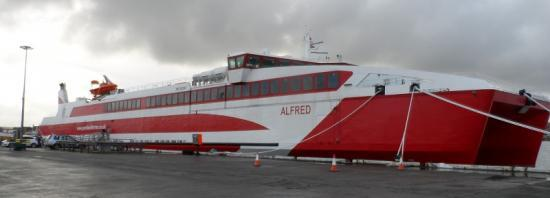 Photograph of New Ferry Mv Alfred Set For First Crossing Of Pentland Firth