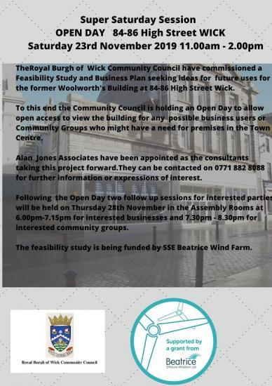 Photograph of Businesses And Groups Invited By Wick Community Council To Contribute To A Plan For The Old Woollies Building